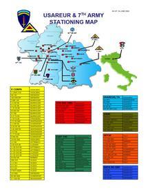 Répartition géographique des Forces américaines stationnées en Allemagne et en Italie