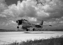 La force aérienne du Canada composée de quatre escadres d'intercepteurs de jour CL-13 « Sabre » fut mise en place sur des bases aériennes en France et en Allemagne.   © DND PL-80360