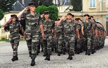 La compagnie de préparation militaire aux ordres du Lieutenant Philippe Hansch lors du défilé du 24 juillet 2009