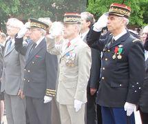 Le Général Samuel le 7 mai dernier à Metz aux côtés du Général Chinouilh, Commandant de la RTNE, du Préfet de Région Niquet, et du Maire de Metz,  Dominique Gros