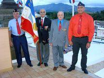 Les représentants de la section de Nouméa de l'ANT-TRN lors de la dernière cérémonie d'hommages aux Anciens d'Indochine