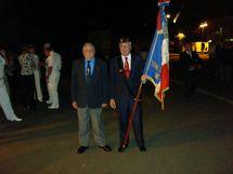 cérémonie de Bir-Harkeim à Nouméa avec le Président de l'ANT-TRN section Nouvelle Calédonie, Claude Benard, et le Porte-Drapeau, Christian Prono