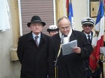 Dominique Gros, Maire de Metz et André Masius, Président du Souvenir français de Metz