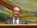 Gérard Longuet, Ministre de la Défense et des Anciens Combattants à l'Hôtel de Région à Metz lors du colloque sur Pierre Messmer