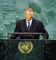 Dominique de Villepin à l'ONU