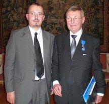 Gregory Dufour, Président du Cercle Esprits de Défense, en compagnie de Wolfgang Hons
