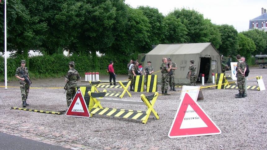 Checkpoint organisé par les réservistes du 402ème RA