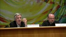 Les intervenants lors de la table-ronde au Conseil régional de Lorraine