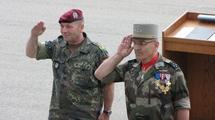 Hans-Otto Budde, Chef d'Etat-Major de l'Armée de Terre allemande, et son homologue français, le Général Elrick Irastorza