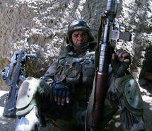L'Adjudant Fontaine en Afghanistan