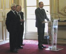 Gregory Dufour lors de son intervention aux côtés d'Adrien Gouteyron, Vice-Président du Sénat, de Jean-Jacques Pollet, Recteur de l'Académie Nancy-Metz et de Jacques Sonnet, Président du CIDAN