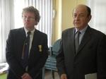 Thierry Pincemaille, décoré par une association patriotique, et le Colonel (r) Daniel Planchette, Conseil municipal de Metz, le 25 mars dernier