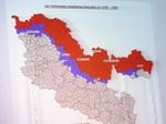 Les zones rouge et bleue
