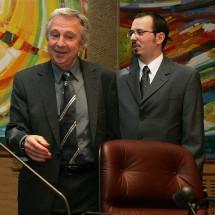 Jean-Pierre Masseret, Président de l'Assemblée interparlementaire de l'UEO et Gregory Dufour, Président du Cercle Esprits de Défense
