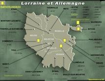 Localisation des régiments menacés en Lorraine