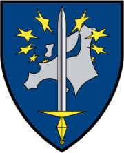 l'emblème du Corps européen