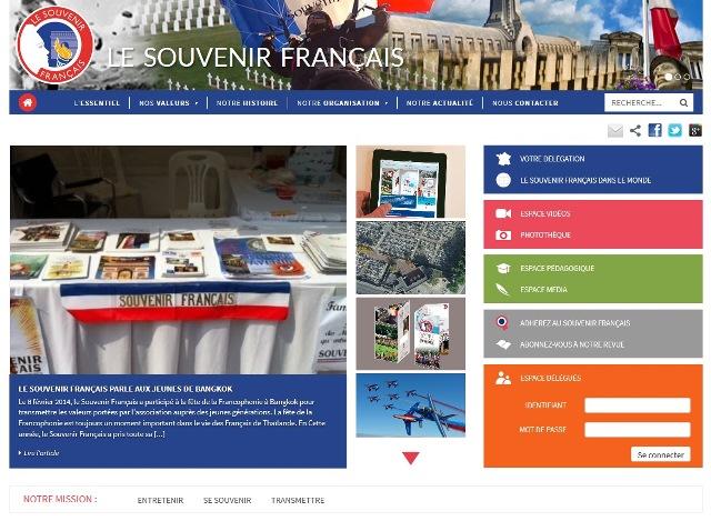 Nouveau site internet national pour le Souvenir français
