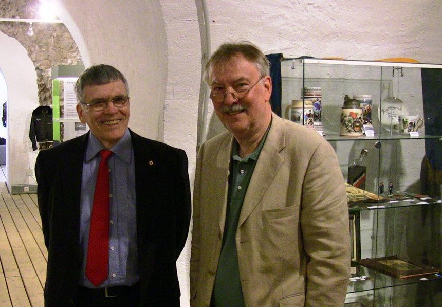 Jean-Marie Langlet, Vice-Président du Cercle Esprits de Défense et Wolfgang Balzer, Conservateur du Musée de la Garnison