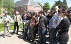 Des lycéens du Lycée Fabert de Metz au 4ème Groupe d'Escadrons de Hussards