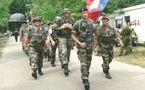 Une délégation militaire française à la Marche internationale de Nimègue